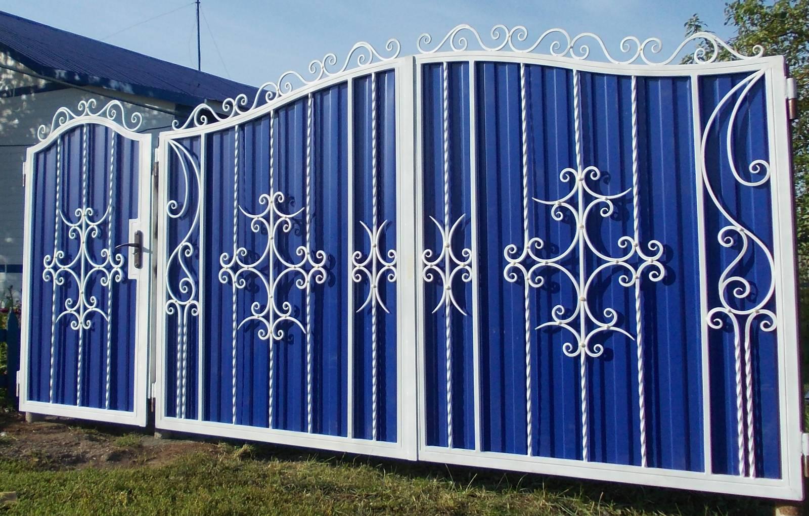 Как красиво оформить калитки и ворота: нестандартные идеи, дизайн своими