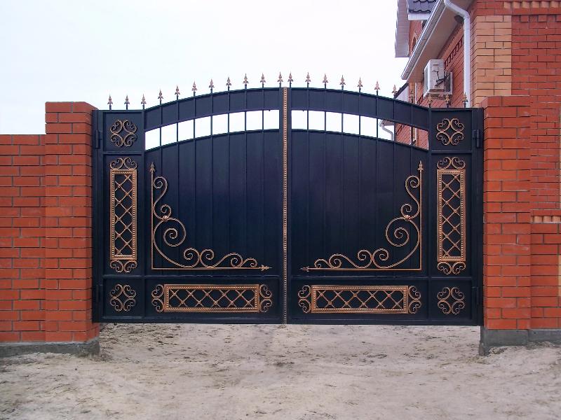 Ворота металлические цены город лида распашные автоматические ворота со встроенной калиткой москва